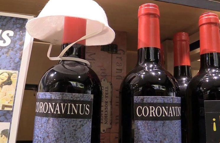 Venden botellas de vino «Coronavinus» para aliviar la preocupación por el coronavirus