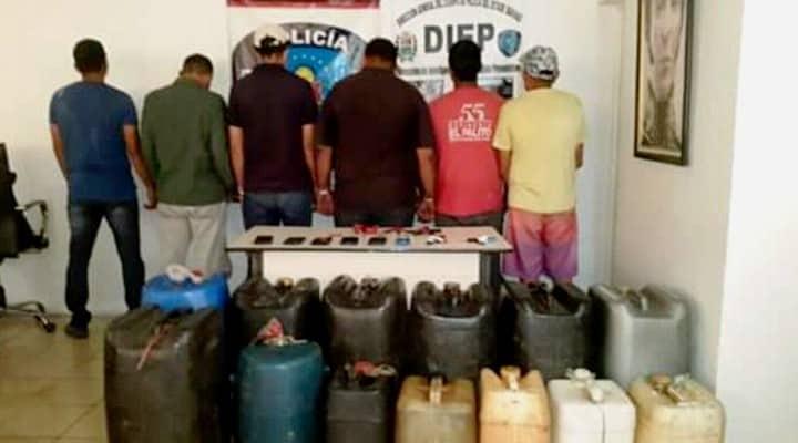 Detenidos seis trabajadores de Pdvsa cargando gasolina clandestina en Barinas