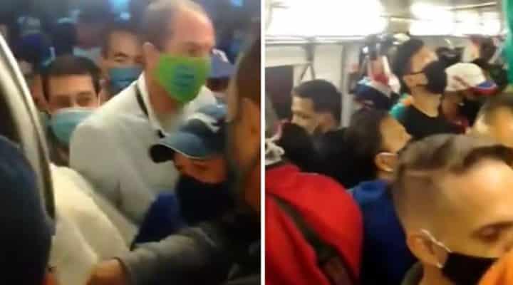 """El vídeo donde se ve el Metro de Caracas en """"flexibilización"""" (+Vídeo caótico)"""