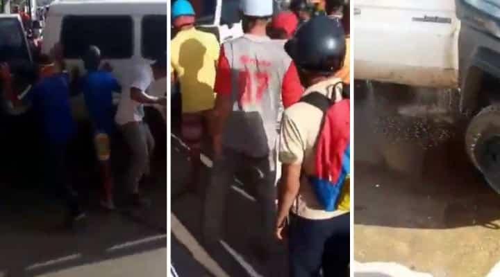 """Ciudadanos de Monagas evitaron que supuestos """"enchufados"""" se llevaban gasolina (+Vídeo)"""