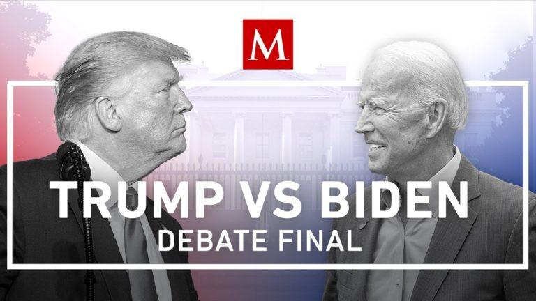 Siga aquí en vivo el último debate Trump-Biden antes de las elecciones del 3 de noviembre