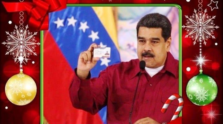 El regalo navideño con el Carnet de la Patria que anunció Maduro