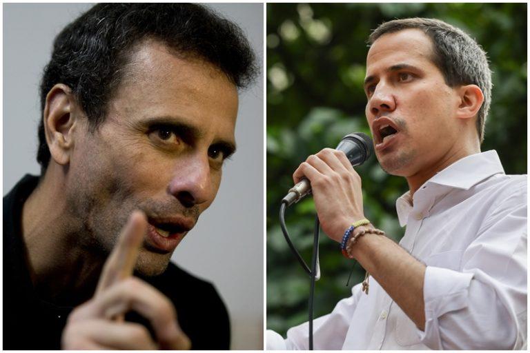 """La fuerte crítica de Capriles a Guaidó: """"La oposición hoy no tiene un líder, no hay un liderazgo, nadie que sea un jefe"""""""