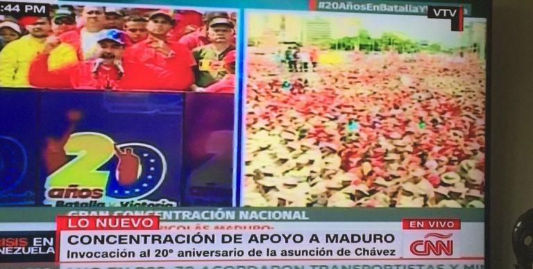 VTV transmitió la señal de CNN, sobre las protestas del Capitolio en EEUU (+Captura)