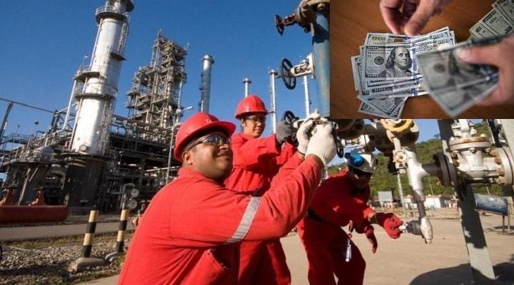 Salario mínimo de trabajadores petroleros será fijado en aproximadamente 120 dólares mensuales