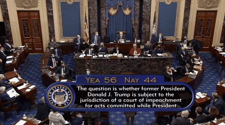 Senado estadounidense avala juicio a Trump