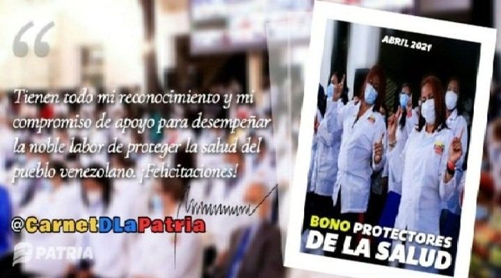 Inició la entrega del Bono Protectores de la salud