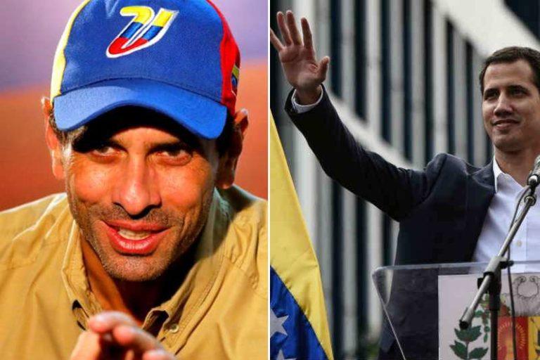 """Guaidó confía en que Capriles """"viene a sumar a la unidad"""": """"Es importante deslastrarnos de cualquier nombre por ego, soberbias o lo que sea"""""""