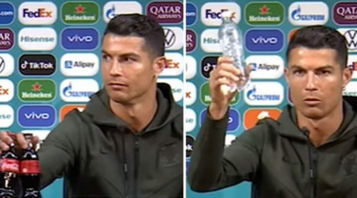 Coca-Cola pierde 4.000 millones de dólares tras el gesto de Cristiano Ronaldo (VIDEO)