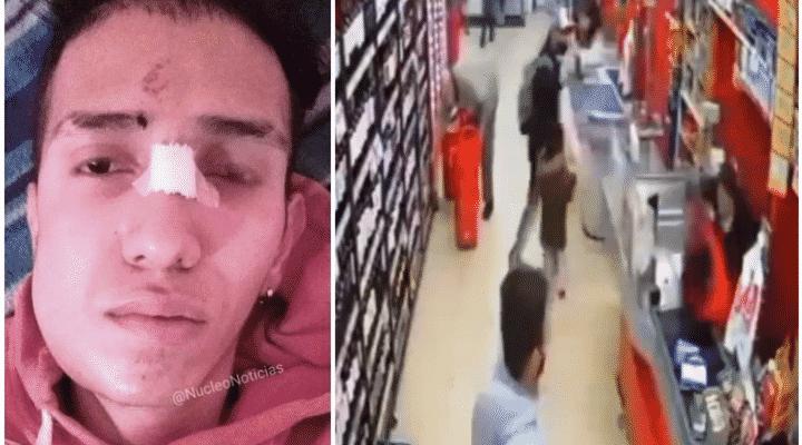 Brutal paliza le dieron a un cajero venezolano en Argentina (Video)