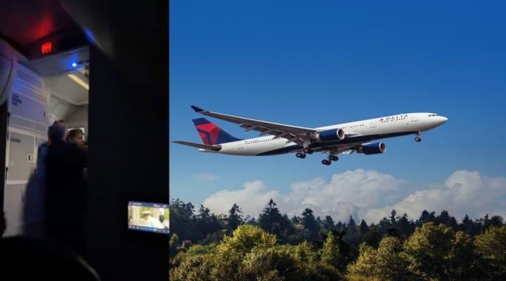 Pasajero enloquece en pleno vuelo y trata de lanzarse del avión (VIDEO)