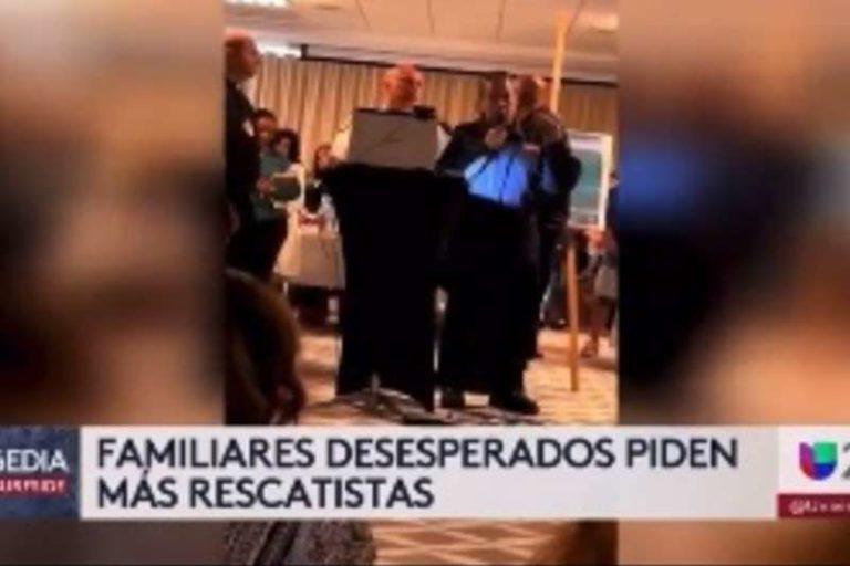 """Madre rompió en lágrimas tras recibir, actualización de rescatistas en edificio en Miami: """"Imagina que tus hijos estuvieran allí"""" (+Vídeo)"""