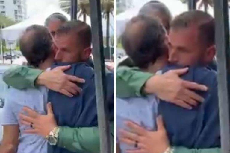 El conmovedor abrazo entre un policía y un padre, que perdió a su hijo en colapso de edificio en Miami (+Video)
