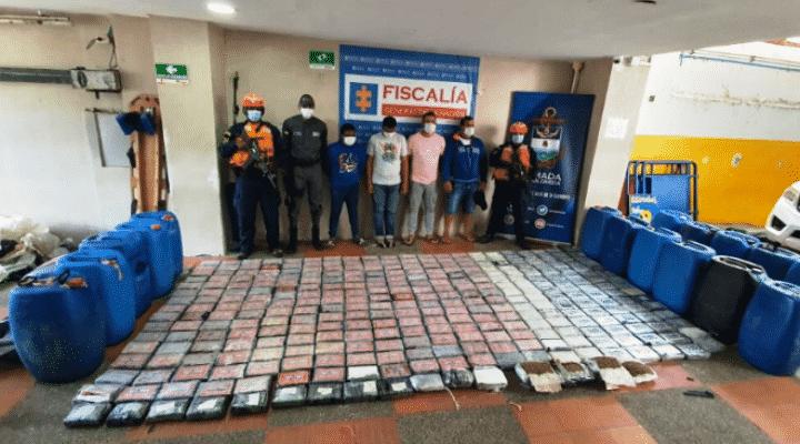 Colombia: A la cárcel 4 venezolanos capturados en la Alta Guajira con 332 kilos de coca y 3.68 kilos de marihuana