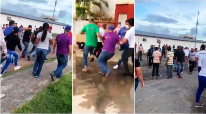 Psuvistas se cayeron a golpes por la rivalidad de la Gobernación del estado Barinas (Videos)