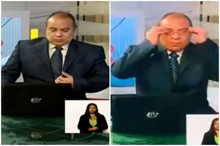 Pillado el aburrimiento de un periodista de VTV, en plena transmisión de Maduro (+Video)