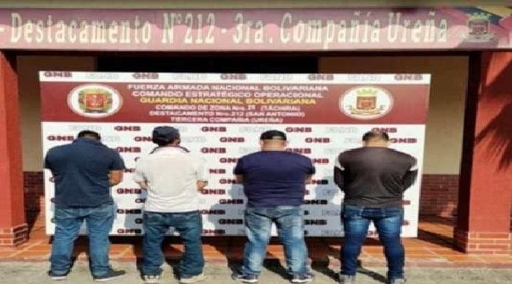 Guardia Nacional Bolivariana Detuvo a tres iraníes en Táchira